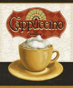 Illustrazione di una tazza di cappuccino