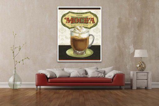 Illustrazione di una tazza di caffè moca