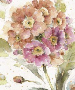 Disegno vintage di un fiore color viola