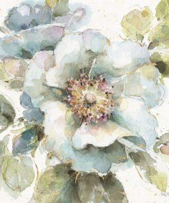 Disegno vintage di un fiore color blu