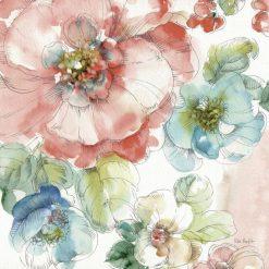 Disegno di fiori colorati con acquerello