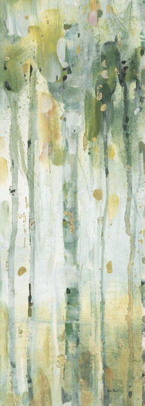 Foresta dai colori verde chiaro e oro