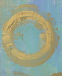 Dipinto astratto con cerchio dorato