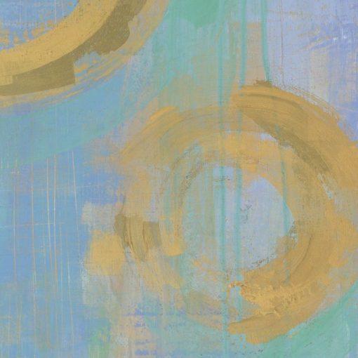 Dipinto astratto con cerchi dorati