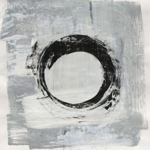 Dipinto astratto con cerchio zen