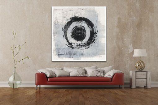 Dipinto astratto con cerchi zen