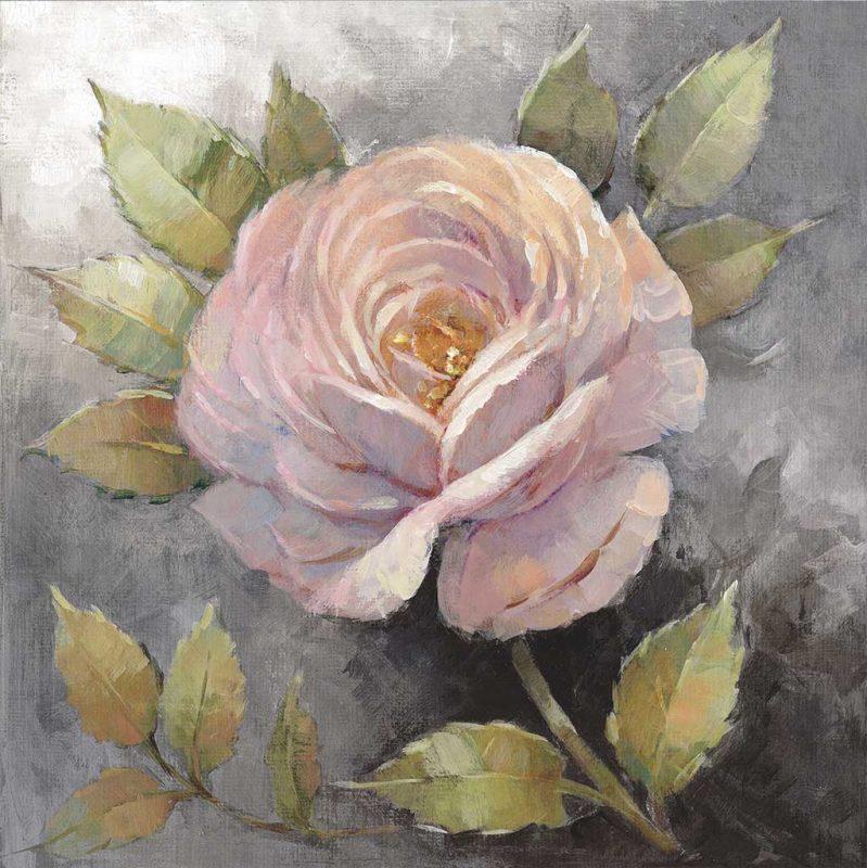 Peter Mcgowan Roses On Gray Iv Crop Artplus Vendita Stampe Su