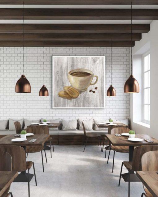 Illustrazione con caffè e biscotti