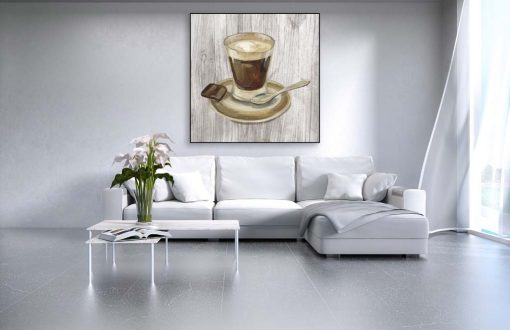 Illustrazione con caffè e cioccolato