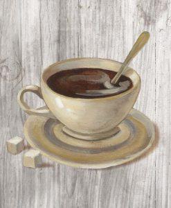 Illustrazione con caffè e zucchero