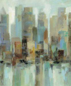 Dipinto astratto di grattacieli