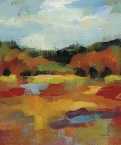 Macchie di colori caldi che compongono un paesaggio
