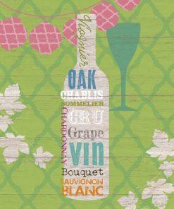 Composizione grafica di una bottiglia e nomi di vini