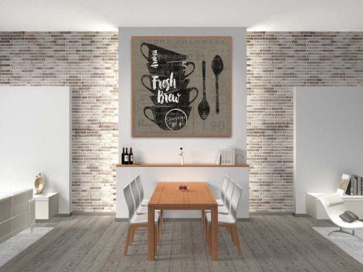 Illustrazione grafica con cucchiaini e tazzine del caffè