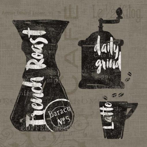 Illustrazione grafica con macinacaffè