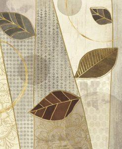 Composizione decorativa con foglie