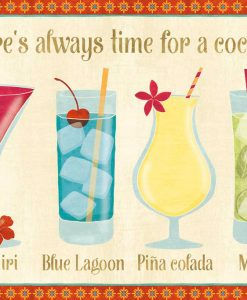 Illustrazione di cocktail esotici colorati