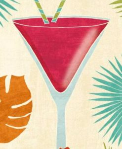 Illustrazione colorata di un cocktail daiquiri