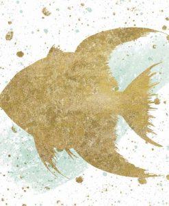 Sagoma di un pesce con effetti grafici