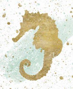 Sagoma di un cavalluccio marino con effetti grafici