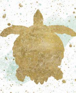 Sagoma di una tartaruga marina con effetti grafici