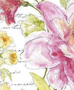 Disegno di fiori con scritte