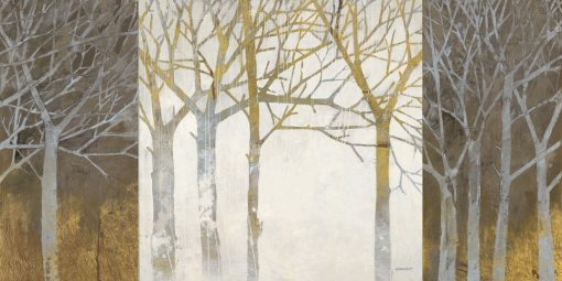 Dipinto di alberi spogli con effetto giorno-notte
