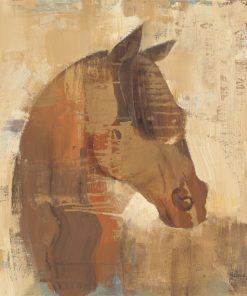 Ritratto di un cavallo con sfumature marroni