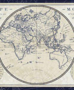 Planisfero dell'emisfero orientale