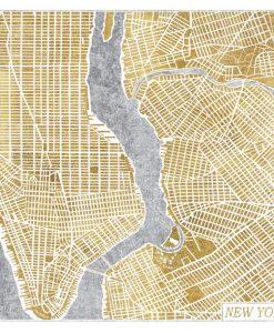 Cartina di New York a colori