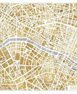 Cartina di Parigi a colori