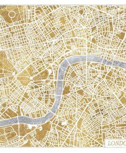 Cartina di Londra a colori