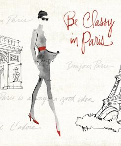 Composizione con donna alla moda e Parigi
