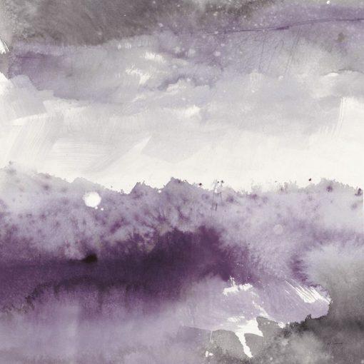 Dipinto astratto con sfumature di viola e grigio