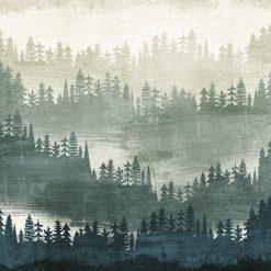 Silhouette sfumate di un bosco a vari livelli