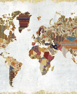 Planisfero composto da pattern diversi