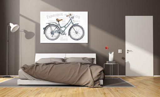 Illustrazione di una bicicletta da città vintage