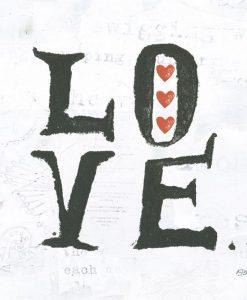 """Messaggio """"love"""" con cuori"""