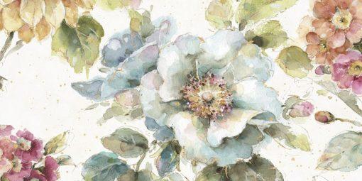 Luminoso acquerello di un fiore azzurro