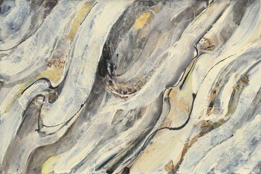 Dipinto astratto dai toni grigio chiaro