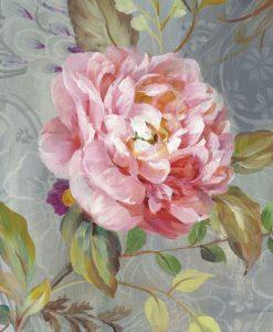 Peonia rosa in stile vintage