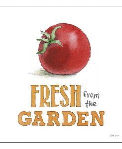 Illustrazione di un pomodoro con messaggio
