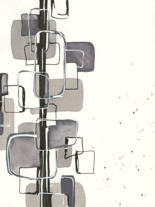 Dipinto con composizione ad effetto grafico