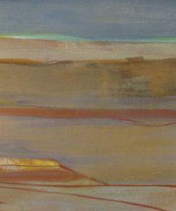 Dipinto astratto con vari livelli orizzontali dai toni freddi