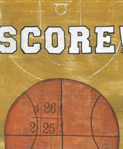 Illustrazione con palla da basket e messaggio