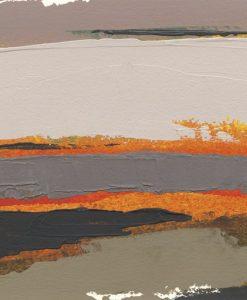 Dipinto astratto grigio e arancio