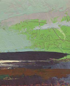 Dipinto astratto grigio e verde