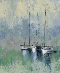 Dipinto con barche a vela