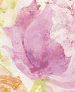 Acquerello astratto di fiori dai toni rosa