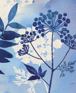 Composizione con silhouette di fiori di campo